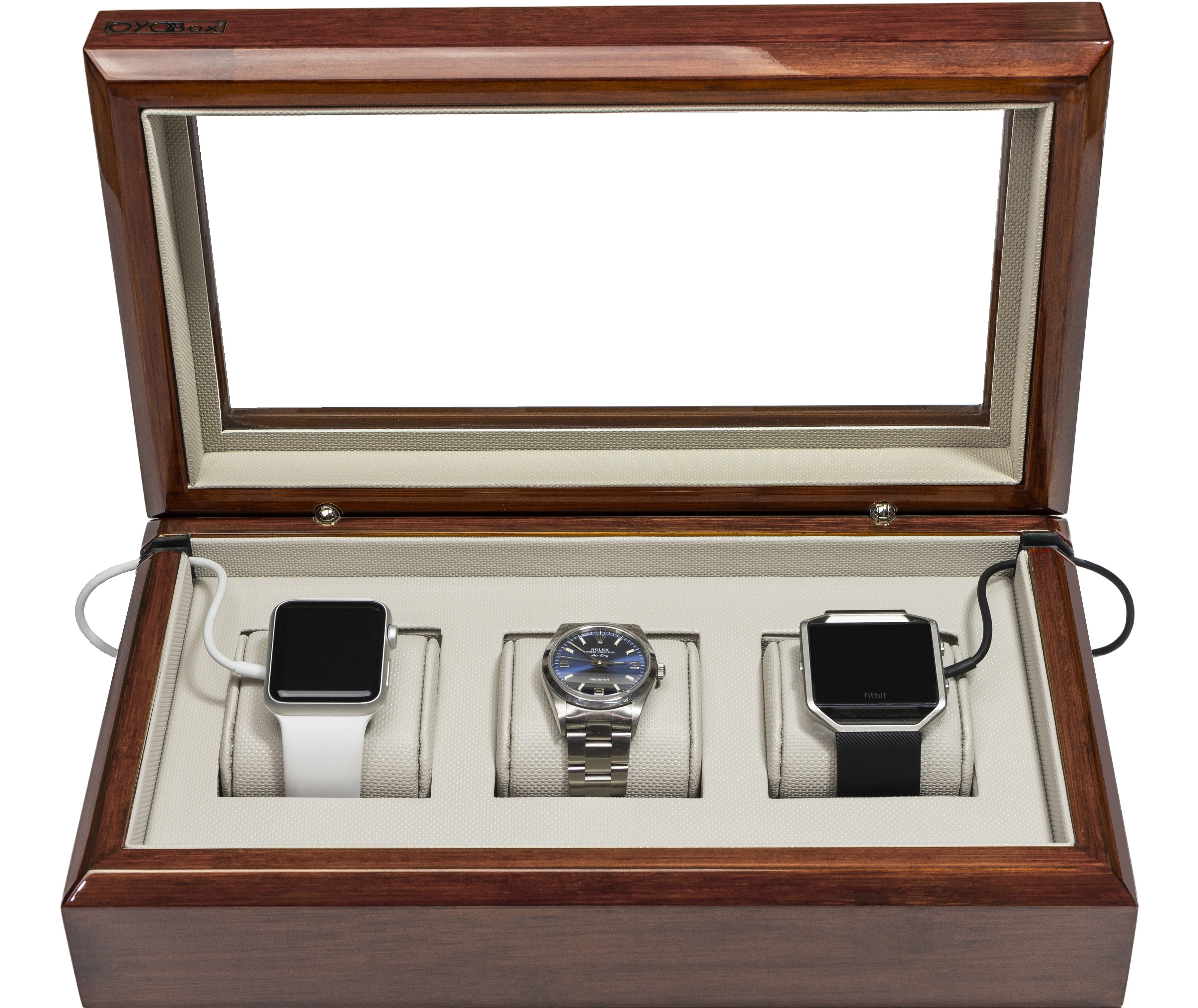 Mahogany Smart-Watch Box