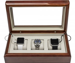 Mahogany Smart-Watch Box