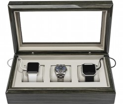 Zebra Gray Smart-Watch Box